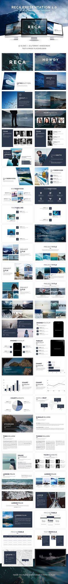 Reca Modern #Google #Slide #Presentation Template - Google Slides Presentation Templates