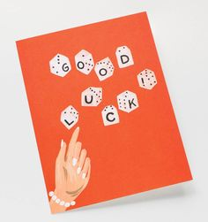 Lucky Dice Available as a Single Folded Card or Boxed Set of 8