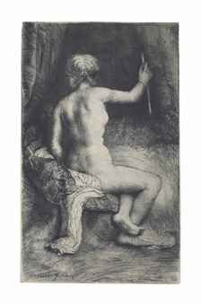 View The Woman with the Arrow By Rembrandt van Rijn; etching and drypoint; Access more artwork lots and estimated & realized auction prices on MutualArt. Rembrandt Etchings, Rembrandt Art, Old Master, Gravure, Arrow, Van, Statue, Artist, Artwork