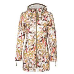 Floral Printed Raincoat in Coral.
