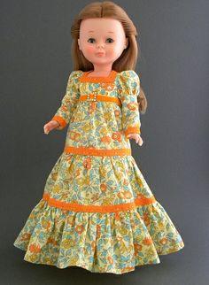 Nancy in Orange Old Dolls, Antique Dolls, Girl Doll Clothes, Girl Dolls, Spanish Girls, Nancy Doll, Barbie, America Girl, Cute Dolls