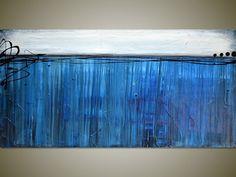 Large Original Abstract Landscape Seascape by gilliansarah on Etsy, $279.00