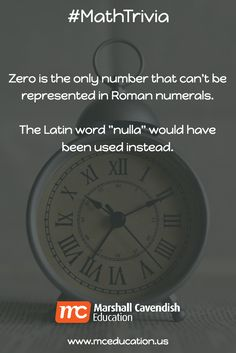 Zero Is The Only Number That Cant Be Represented In Roman Numerals
