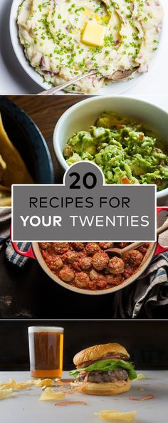 20 recipes every twentysomething should know how to make.