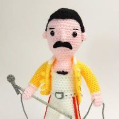 Freddy Mercury Mercury, Free Crochet, Crocheting, Pop Culture, Horror, Crochet Patterns, Crochet, All Free Crochet, Crochet Pattern