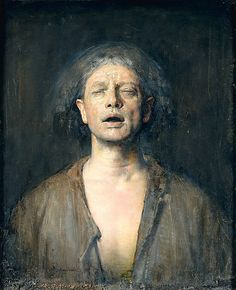 Self-Portrait with Eyes Closed  Odd Nerdrum  Oil on Canvas  32 x 26 in