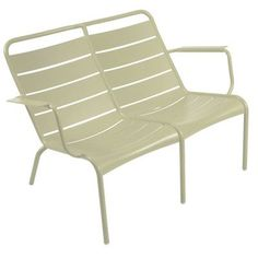 Fermob Luxembourg Aluminum Garden Bench Finish: Willow Green