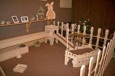 Amazing rabbit furniture and housing (Germany?)