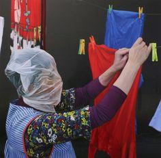 Artista: Manuel Rivero, Ado-Nay. Obra: Grave impedimento de existencia o desarrollo V. Óleo sobre lienzo metálico. 65x65 cm. 2017