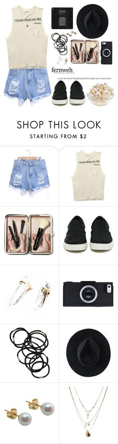 """""""Hello (Tag)"""" by theyoungestvolcano ❤ liked on Polyvore featuring Wet Seal, Bobbi Brown Cosmetics, Steve Madden, Monki, Ryan Roche, A B Davis and Orelia"""