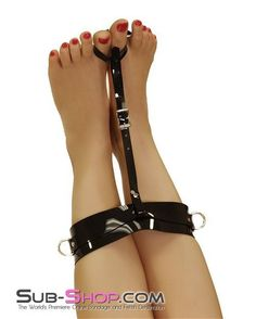Ankle cuff bondage womens shoes