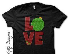 Kids Christmas Shirt - Christmas Love T-Shirt / Toddler Christmas Outfit / Women Christmas Eve Pajamas / Baby Shower Gift / Holiday Clothing