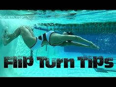 Flip Turn Tips - Swim with Leila - Swimming - Swimming Pool Exercises, Swimming Drills, Pool Workout, Competitive Swimming, Swimming Tips, Keep Swimming, Triathlon Swimming, Swimming For Beginners, Freestyle Swimming
