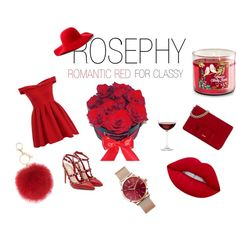 ROMANTIC RED by karolin-pettenkoffer on Polyvore featuring art