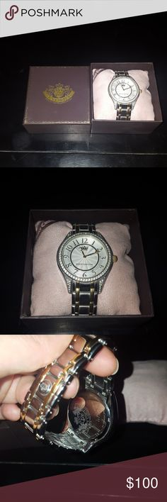 Juicy Couture Watch Beautiful Juicy couture watch. Comes in the original Juicy couture box. In almost perfect condition. Not missing any jewels. Needs a new watch battery. Make me an offer :-) Juicy Couture Accessories Watches
