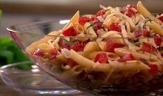 salade pâte pepperoni olive poivron fromage