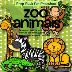 Zoo animals activities and games for preschool and pre-K