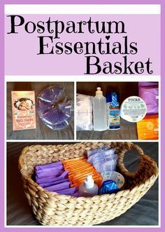 DIY Postpartum Essentials Basket: What new mamas need after baby - baby shower gift? Diy Postpartum, Postpartum Must Haves, Postpartum Recovery, Best Pads For Postpartum, 5 Weeks Pregnant, Pregnant Mom, Pregnant Clothes, Shower Bebe, Preparing For Baby