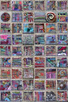 """I have completed a year of the """"Made On Monday"""" project, which involved making a 5 inch piece of artwork every week. I chose to make mine from the scraps left over from my other textile…"""