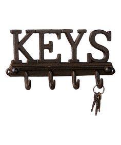 Look what I found on #zulily! 'Keys' Wall Hook #zulilyfinds