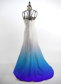 Ombre Dye Service for silk wedding dresses, fun wedding! Then do your bridal party in the varied hues!