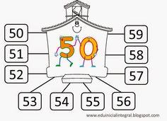 Estimados Lectores: A continuación podrán encontrar gráficos para trabajar con las familias de números del 20 al 100.  Siempre recordem...