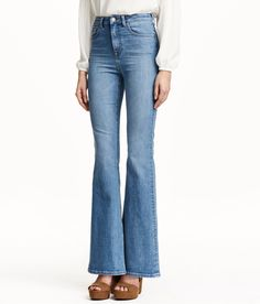 5-pocket jeans in washed stretch denim with a high waist. Jeans Pour FemmeHoge  TailleVêtements ... 42c67b6d406