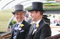Crown Prince Frederik of Denmark & Prince Edward, Earl of Wessex, ROYAL ASCOT 2016 - Day 2