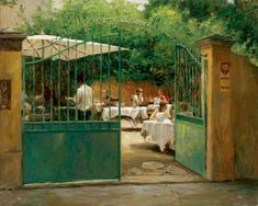 LEONARD WREN (Artist) is proudly represented by Jones/Terwilliger Gallery in Carmel California Carmel California, Impressionist Artists, Art Themes, Outdoor Furniture Sets, Outdoor Decor, Wren, Beautiful Paintings, Art For Sale, Italy