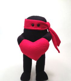 Ninja of Love Plush Toy Valentine Gift For Him by EpicToyChest