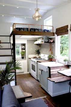 It is not impossible if you live in a tiny house with your family. Today, a tiny house interior is really impressive. You can still live in a small house even space seems not enough for you. A tiny ho Tiny House Movement, Tiny House Plans, Tiny House On Wheels, Tiny House With Loft, Tiny Loft, Tiny Home Floor Plans, Cheap Tiny House, Tiny House Luxury, Off Grid Tiny House