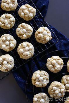 Cream Cheese, Lemon & White Chocolate Chip Cookies | Tutti Dolci