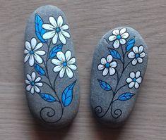 Rock Art Painted Rock Heart Motif Mandala by etherealearthrockart