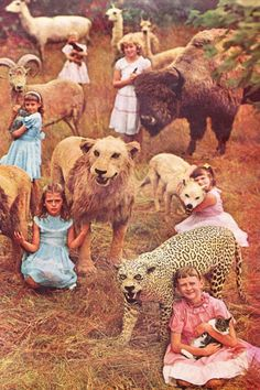 children with animals