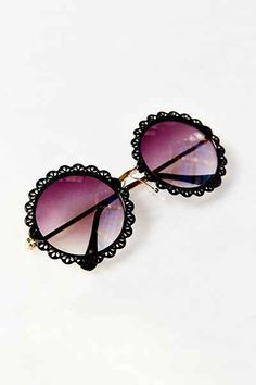 Flower Patch Round Sunglasses - Urban Outfitters