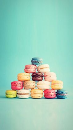 Macarons French Cake Pyramid iPhone 5 Wallpaper