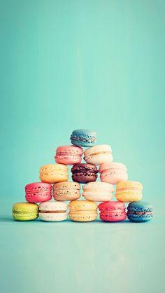 Macarons French Cake Pyramid iPhone 5 Wallpaper