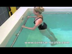 Hydrotherapy Exercises - Lumbar spine stretches - YouTube
