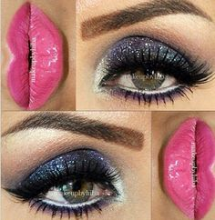 Smokey eye and pink lip