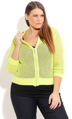 City Chic ACID HOODIE CARDI - Women's Plus Size Fashion