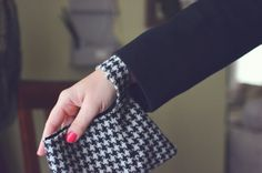 Cute little wallet-clutch, made from old clothing. Smart!