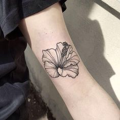 Hibiscus flower tattoo on the bicep tattoo artist akau pasqual inside proportions 1000 x 1000 Frangipani Tattoo, Hibiscus Flower Tattoos, Small Flower Tattoos, Flower Tattoo Arm, Flower Tattoo Designs, Small Tattoos, Piercing Tattoo, Bicep Tattoo, Tattoo Girls