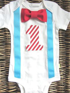 Dr. Seuss Cat in the Hat Birthday Shirt - Bow Tie Suspenders Onesie - Boys First Birthday Outfit -  Baby Boy Clothes - Carnival Birthday on Etsy, $22.99