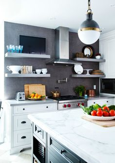 I like this idea for the kitchen.