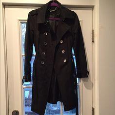 White House black market black coat White House black market black coat. With belt. Worn twice. White House Black Market Jackets & Coats Trench Coats