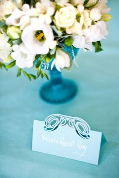Place Cards by Intricate Creations Tiffany Blue, Bespoke, Place Cards, Stationery, Place Card Holders, Projects, Pink, Wedding, Tiffany Blue Color