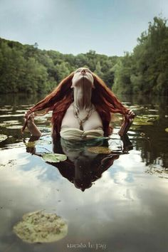 Fairy of the lake, mermaid, red hair woman in water, lake, immersion fantasy art… – girl photoshoot poses Art Magique, Water Modeling, Water Shoot, Red Hair Woman, Water Nymphs, Foto Art, Dark Beauty, Editorial Photography, Fashion Photography