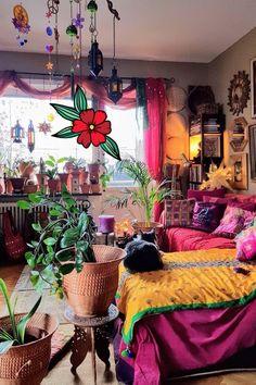 Hippie Bedroom Decor, Bohemian Bedroom Design, Indie Room Decor, Hippie Home Decor, Aesthetic Room Decor, Bohemian Decorating, Bohemian Interior, Hippie Apartment Decor, Bedroom Designs