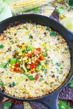 Roasted Corn Queso Fundido