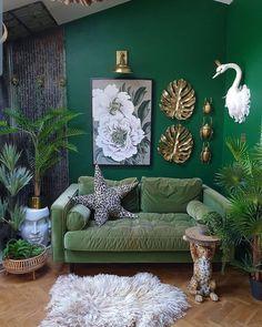 Bohemian Latest And Stylish Home decor Design And Life Style Ideas - Bohemian Home Stylish Home Decor, Cheap Home Decor, Interior Inspiration, Room Inspiration, Living Room Decor, Bedroom Decor, Green Rooms, Beautiful Living Rooms, Home Interior Design